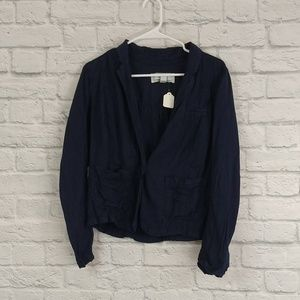 Caslon | Navy One Button Lightweight Jacket